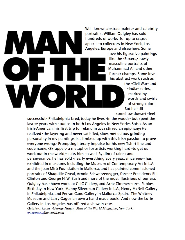 Man of the World article
