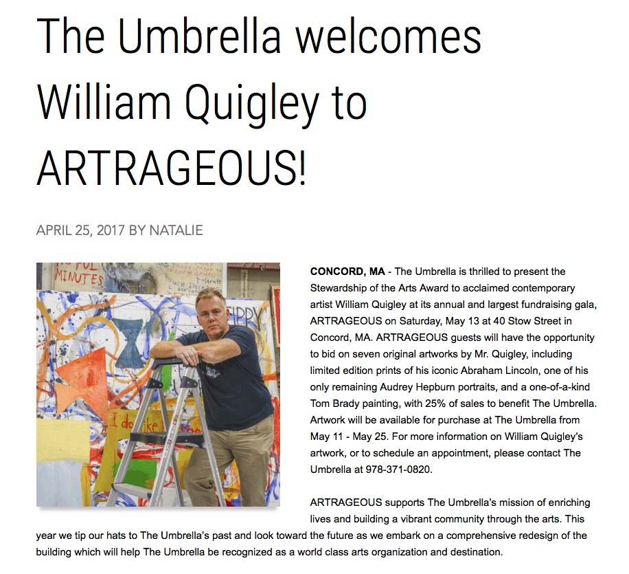 Umbrella Welcomes William Quigley
