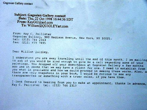 Gagosian Letter
