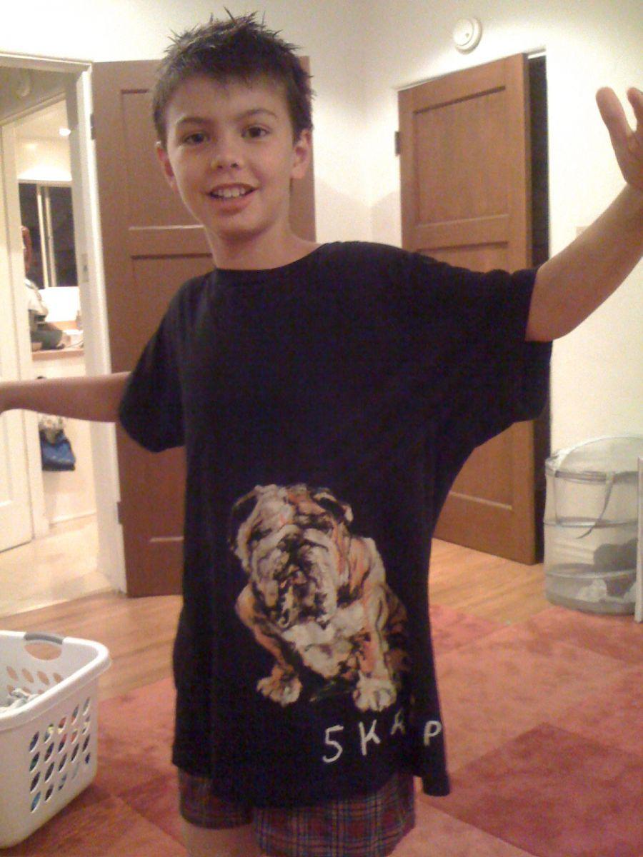 skrapper bulldog shirt on diego chiat